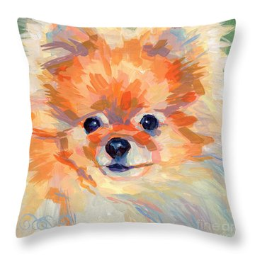 Hardley A Hadley Throw Pillow by Kimberly Santini