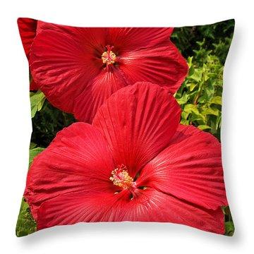 Hardy Hibiscus Throw Pillow
