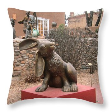 Hare In Santa Fe Throw Pillow