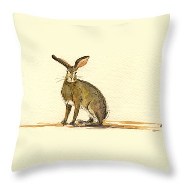 Hare Throw Pillows