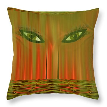 Throw Pillow featuring the digital art Harem - Fantasy Art By Giada Rossi by Giada Rossi