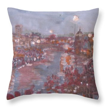 Haridwar Throw Pillow