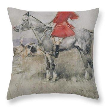 Hark To Statesman Throw Pillow by Joseph Crawhall