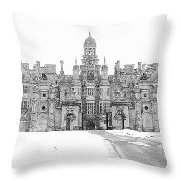 Harlaxton Manor Throw Pillow by Tiffany Erdman