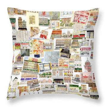 Harlem Collage Of Old And New Throw Pillow