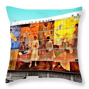 Harlem Hospital Mural Throw Pillow