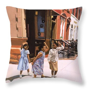 Harlem Jig Throw Pillow by Colin Bootman