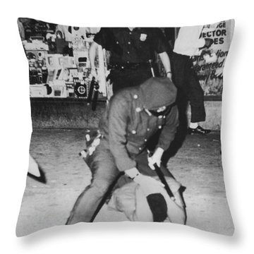 Harlem Race Riots Throw Pillow by Underwood Archives