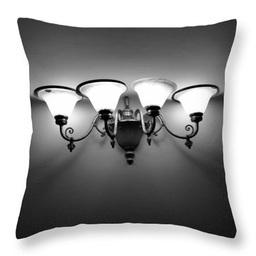 Harlem Sconce Throw Pillow by H James Hoff