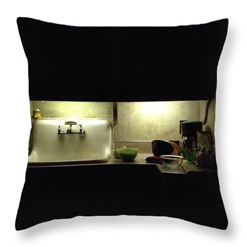Harlem Sink Throw Pillow by H James Hoff