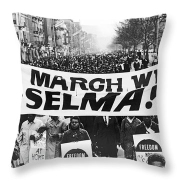 Harlem Supports Selma Throw Pillow by Stanley Wolfson