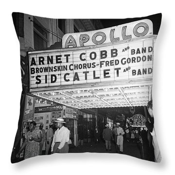 Harlem's Apollo Theater Throw Pillow by Underwood Archives Gottlieb
