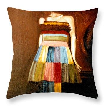 Harlequeen Throw Pillow by Daniele Zambardi