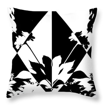 Harlequin Shadows Throw Pillow by Ginny Schmidt