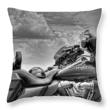 Harley Black And White Throw Pillow