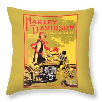 Harley Davidson 1927 Poster Throw Pillow by Reproduction