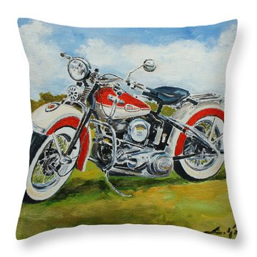 Harley Davidson 1943 Throw Pillow