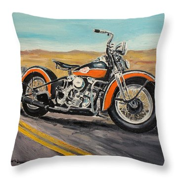 Harley Davidson 1946 Throw Pillow