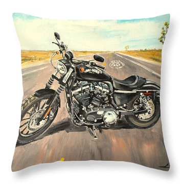 Harley Davidson 883 Sportster Throw Pillow