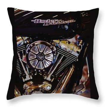 Harley Davidson Abstract Throw Pillow