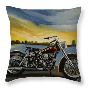 Harley Davidson Duo Glide Throw Pillow