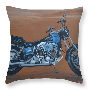 Harley Davidson Dyna Throw Pillow by Sally Rice