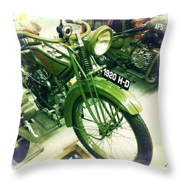 Harley Davidson Throw Pillow by Nina Prommer