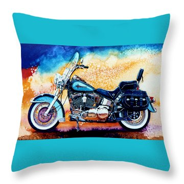 Harley Hog I Throw Pillow by Hanne Lore Koehler