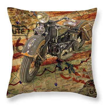 Harley On 66 Throw Pillow