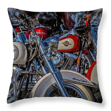 Throw Pillow featuring the photograph Harley Pair by Eleanor Abramson