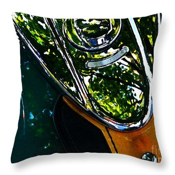 Harley Tank In Oils Throw Pillow by Chris Berry