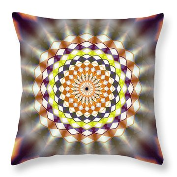 Throw Pillow featuring the drawing Harmonic Sphere Of Energy by Derek Gedney