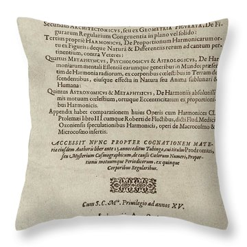 Title Page Throw Pillows