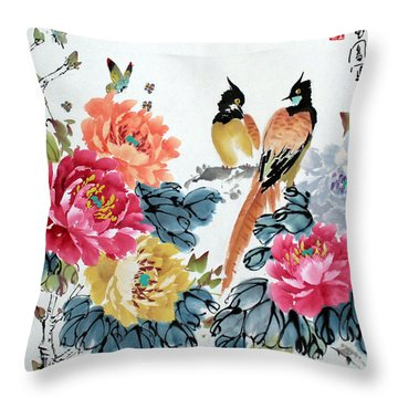 Harmony And Lasting Spring Throw Pillow