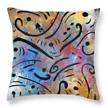 Harmony And Rain Throw Pillow by Venus