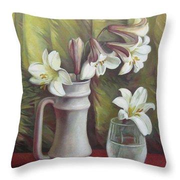 Harmony Throw Pillow by Elena Oleniuc