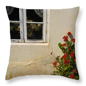 Flower Talk Throw Pillow