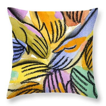 Multi-ethnic Harmony Throw Pillow