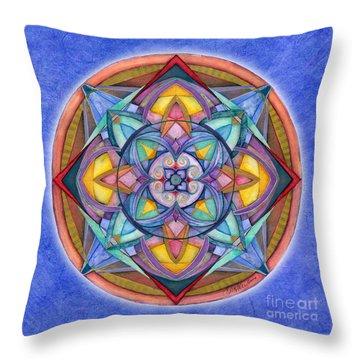 Harmony Mandala Throw Pillow