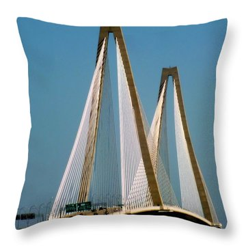 Harmony Of Charleston Throw Pillow by Karen Wiles