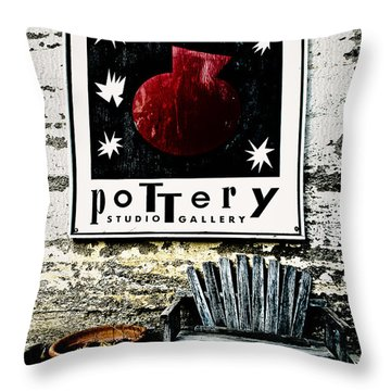 Harmony Pottery Throw Pillow by Terry Garvin