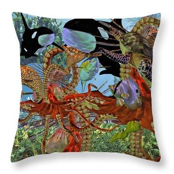 Harmony Under The Sea Throw Pillow by Betsy Knapp