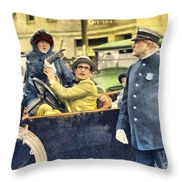 Harold Lloyd In Hot Water Throw Pillow
