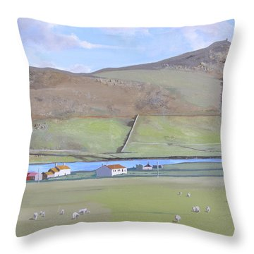 Haroldswick Shetland Islands Throw Pillow