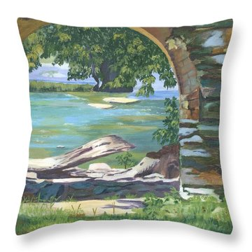 Harper's Arch Throw Pillow by Lynne Reichhart