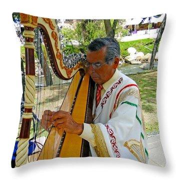Harpist II Throw Pillow