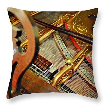 Harpsichord  Throw Pillow