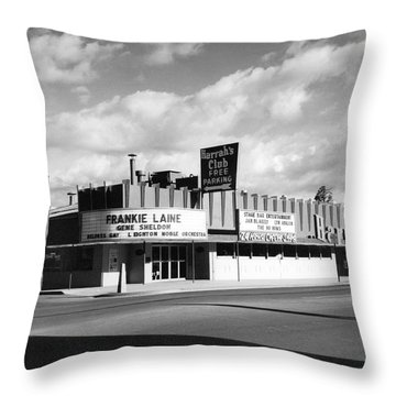 Harrah's Club In Las Vegas Throw Pillow