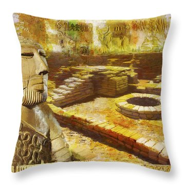 Harrappa Unesco World Heritage Site Throw Pillow by Catf