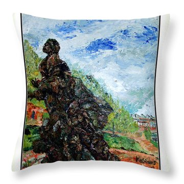 Harriet Tubman-underground Railroad Throw Pillow by Keith OBrien Simms